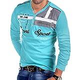 Photo de POachers Tee-Shirt à Manches Longues pour Hommes T-Shirt à Manches Longues en V à Manches Longues Impression Tee Shirt Col Tunisien Uni Henley Shirt und Boutonné Blouse Tops Hauts S-3XL