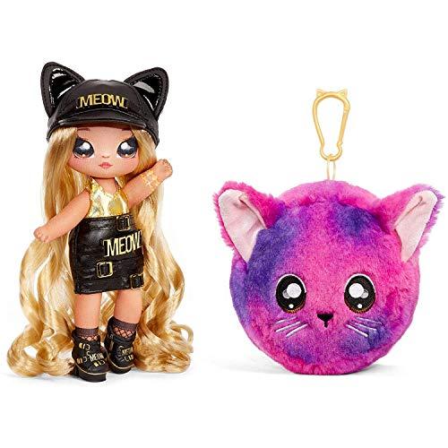 Na Na Na Surprise, Bambole alla Moda da Collezione 2 in 1 per Bambine, Sasha Scratch, Borsa in Peluche Serie 3
