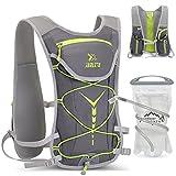 iBIREMS Paquete de hidratación con vejiga de hidratación de 2 litros - Mochila, mochila de agua, chaleco deportivo, senderismo, ciclismo, escalada, camping, trail running (gris)