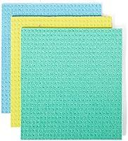 Full Circle Ropa de Esponja de celulosa Reutilizable, Paquete de 3