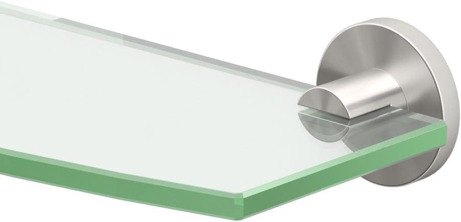 Gatco 4696 Channel Glass Nickel Popularity Shelf Some reservation Satin