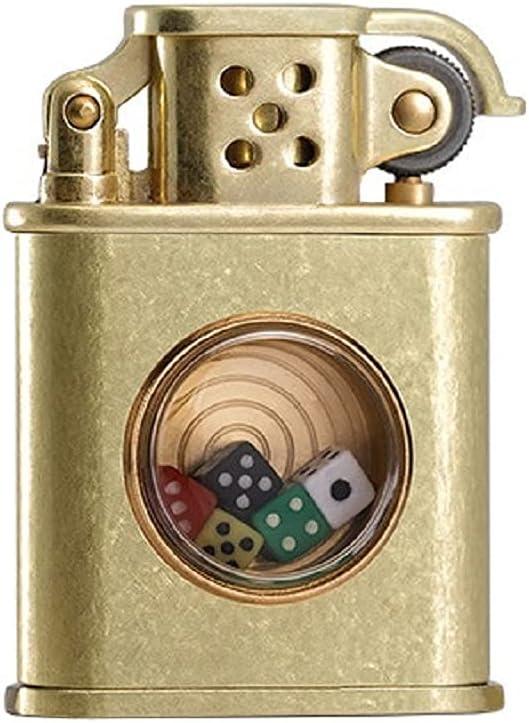 CGDX Vintage Trench Lighter Funny Dice Ranking TOP9 K Grinding Wheel Atlanta Mall