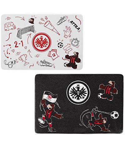 Eintracht Frankfurt Atilla Frühstücksbrettchen 2er Set (one size, schwarz)