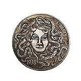 Yuanan American Morgan Wanderer Moneda 1938 Medusa Hermosa Mujer Y Serpiente Monedas Conmemorativas Colección Artesanía Decoración del Hogar Regalos
