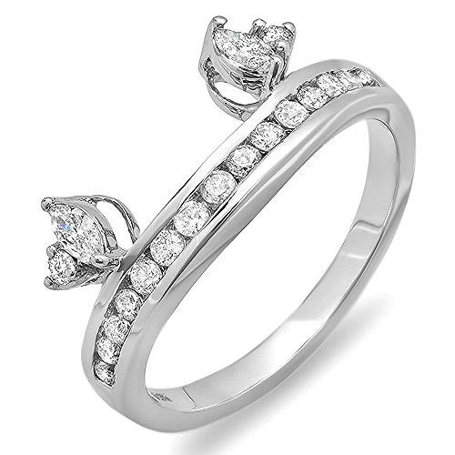DazzlingRock Collection  -  14 Kt Weißgold Round & Marquise I-J Weißer Diamant