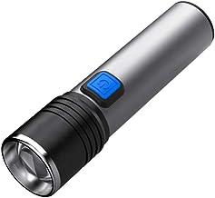 Bdesign LED zaklamp, Instelbare focus, 5 modi, USB opladen, sterk licht en Super Bright Long-range, geschikt for Outdoor C...
