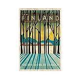 NHYTR Poster Vintage Werbung The World Finnland Leinwand