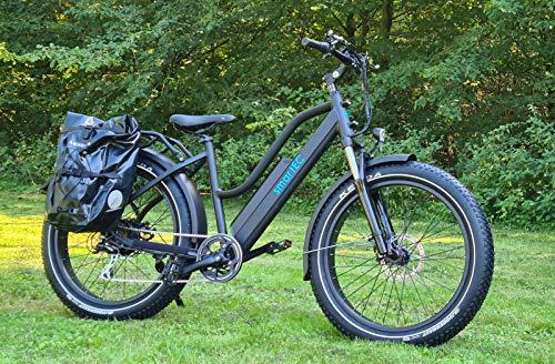 51JiezhZkbL - smartEC RockX-26T Trekking Fat Pedelec E-Bike Elektrofahrrad E-Cruiser 26 Zoll Samsung 48V/14AH, Fahrunterstützung bis zu 25km/h, leistungsstarker Heckmotor
