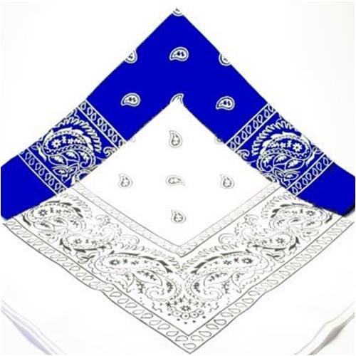 Bandana Paisley sjaal Duo 1 X 1 X Blauw Wit