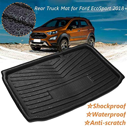 XIANGBAO QI LE Car Auto Rear Boot Cargo Liner Trunk Floor Mat Carpets Luggage Tray Mats Pad Mat Carpet for Ford EcoSport 2018 2019+ Car Styling