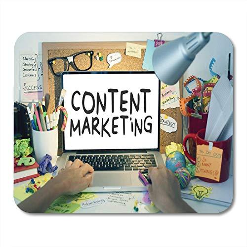Mouse Pad SEO Content Marketing Strategie Desk Verkehrsmedien Computer Suche Mousepad für Notebooks, Desktop-Computer Mausmatten, Büromaterial
