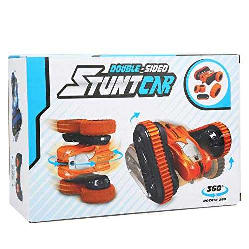 Demeras Stunt Racing Car 2.4G Control Remoto Stunt Car Racing Actividades Niños(Orange)