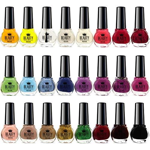 Set di 24 smalti per unghie in 24 differenti colori (A)