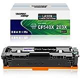 Sinoprint - Cartuccia toner compatibile per HP 203X CF540X 203A CF540A per Color LaserJet Pro MFP M281fdn M281fdw M280nw M281cdw, Pro M254dn M254dw M254nw HP203X HP203A (1 nero)