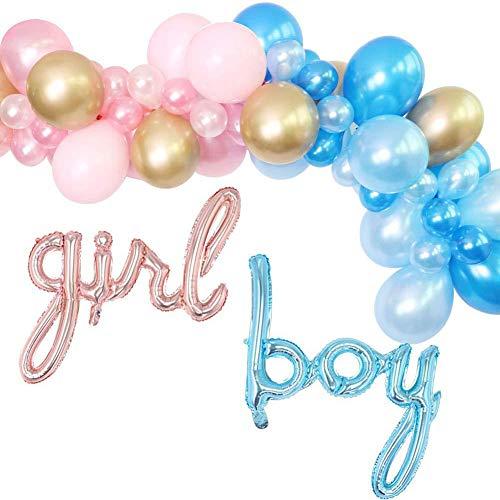 DIY ballonnen slinger kit 86 stks Pastel Hot roze blauwe ballonnen slinger boog kit metaal goud latex bolloon voor meisje jongen partij decoratie benodigdheden