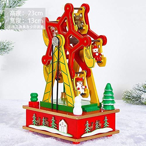 Humeng Decorazioni Natalizie Regalo Creativo Di Natale Carillon A Forma Di Ruota Musicale Carillon Musicale Decorazione Di Scena Di Natale Italiano @ Red Ferris Wheel Music Box