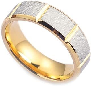 Titanium Steel Men Wedding Bands Silver/Black/Gold Brushed Finished Ring
