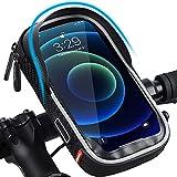 LuTuo Fahrrad Lenkertasche Wasserdicht, Handy Halterung Universal Motorrad Handyhalter für 5,5-7 Zoll Smartphone mit 360° Drehbar Fahrradtasche