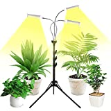 Grow Light for Indoor Plants with Stand Emiral 150W LED Full Spectrum Plant Grow Lights for More Than 4 Plants, Tripod Stand Adjustable 15-47 in, 3/6/12H Timer & 3 Modes for Your Indoor Garden