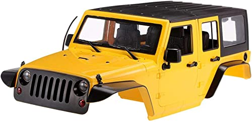 Erduo Hartplastik-Karosserie für 1 10 RC Rock Crawler Axial SCX10 Wheelbase 313mm - Gelb