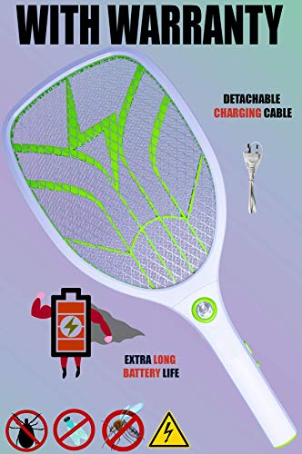 Weird Wolf (Formerly Viola) Heavy Duty Mosquito Bug Zapper Killer Racquet Bat with Powerful Battery and 6 Month Warranty