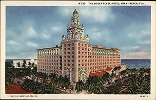 The Roney Plaza Hotel Miami Beach, Florida Original Vintage Postcard