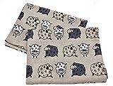JOWOLLINA 2er-Set: Geschirrtücher Küchenhandtücher Handtücher Tücher Schäfchen 47x70 cm Halbleinen