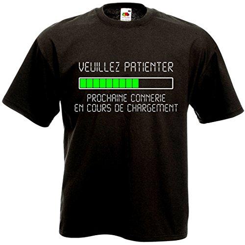 T-Shirt Veuillez Patienter Prochaine connerie en Cours de Chargement - Geek Humour Loading Informatique (M)