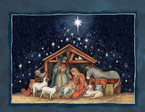 Lang Nativity Assorted Two Set Christmas Cardby Susan Winget, 5.375 x 6.875, 2 Unique Designs per Box, 18 Cards and 19 Envelopes (1008105)
