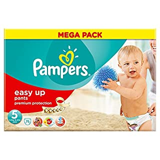 Ancienne version - Pampers - Easy Up Couches Culottes - Taille 5 Junior - 12-18 kg - Megapack x 75 Couches (B0090WWN4U) | Amazon price tracker / tracking, Amazon price history charts, Amazon price watches, Amazon price drop alerts