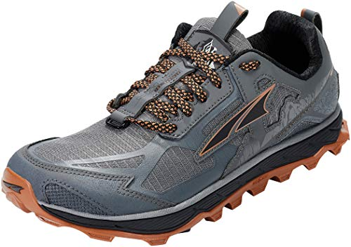 ALTRA Lone Peak 4.5 Low Mesh Trail Running Shoes - AW20-8 Gray Orange