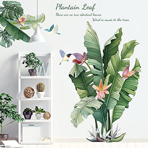 Plantas Tropicales Hojas Verdes Pegatinas De Pared,Papel pintado de hojas