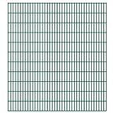 VIENDADPOW Zaunfelder 2D Gartenzaun-Elemente 2,008x2,23 m Gesamtlänge 4 m Grün