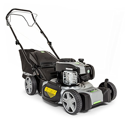 Murray EQ 500 18'/46 cm self-propelled Petrol Lawnmower with Briggs & Stratton 500E Series Engine Including Mulching Plug, Black, Medium