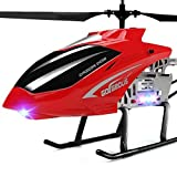 Lotees 2.4GHZ Gyro RC Helicopter Super Large Radio Remote Control 3.5 Channel LED Indoor Outdoor Helicopter Stable Easy to Learn Good Operation Boys Girls Children Gifts Kids Toy