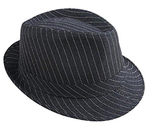 P 'tit clown 40388 hoed stof volwassenen – Borsalino – gestreept zwart/wit
