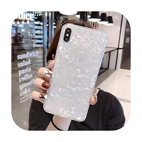 Carcasa de silicona para iPhone XS Max con diseño de corazón y caramelo, para iPhone 12 11 Pro Max 5S 6 6S 7 8 Plus SE 2020, color rosa y blanco