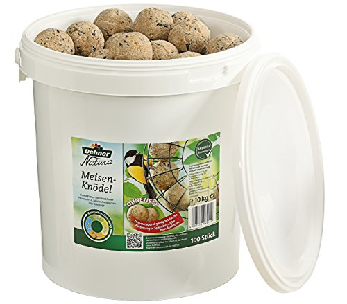 Dehner Natura Wildvogelfutter, Meisenknödel, ohne Netz, 100 Stück (10 kg)