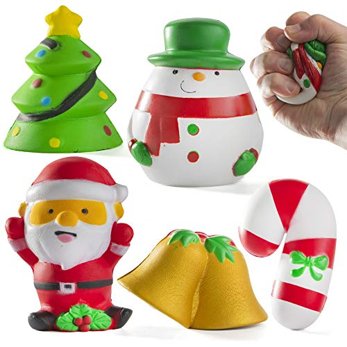 Prextex Christmas Squishies Soft Jumbo Squishies Stress Relief Squishy Toy