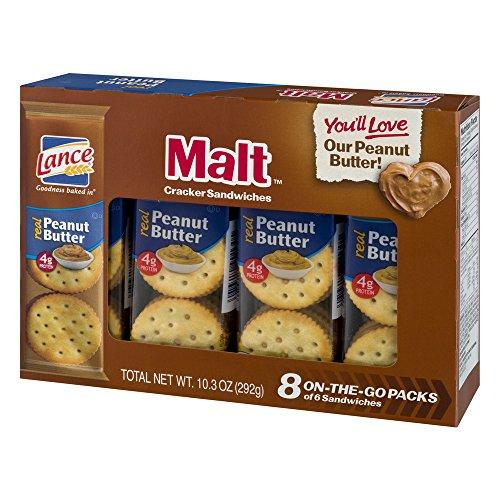Lance Malt Crackers With Real Peanut Butter Sandwich, 10.3 oz