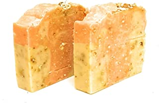 Soapylicious Exfoliating Orange Bar -Combo of 2, Natural Handmade Organic Soap