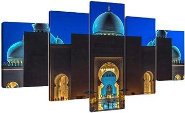 WYPG Plus frontière Peinture à l'huile Moderne HD Peinture Murale Jet d'encre 5 Ensembles d'affiche de Peinture d