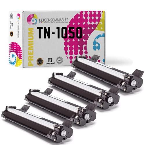 Mypack - Tóner compatible con Brother Tn-1050 (4 unidades), color negro