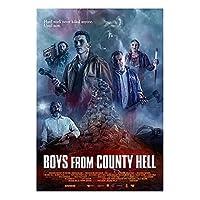 Mzdesign 地獄の少年クリスボー映画キャンバスポスターとプリント壁アート絵画写真家の装飾-50X70Cmx1Pcs-フレームなし