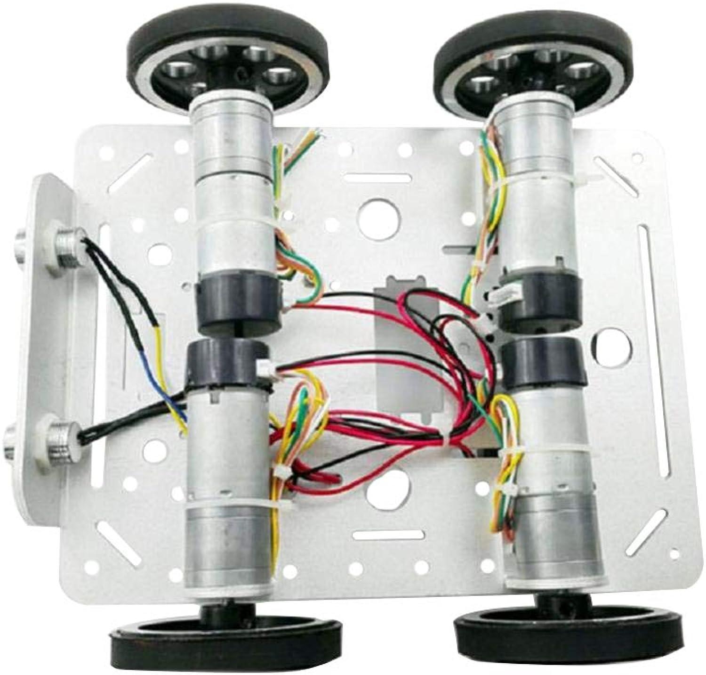 almacén al por mayor Perfk Modelo de de de Robot Wheel Chasis para Arduino Raspberry Pi 4WD Diversión Accesorios Hobbies  te hará satisfecho