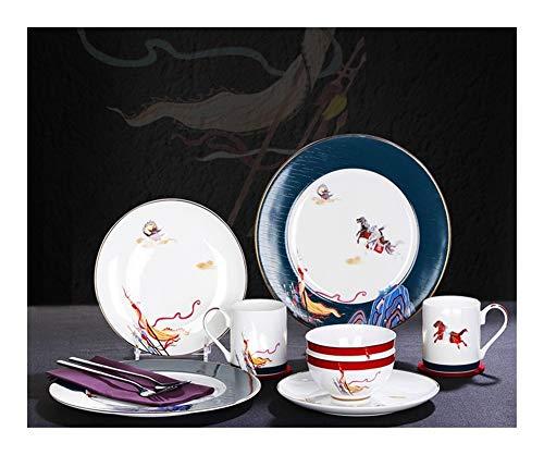 ASYCAN Prima de China de Hueso de vajilla de Porcelana Servicio Vendimia for 2 Estilo de Porcelana China de 16 Piezas de...