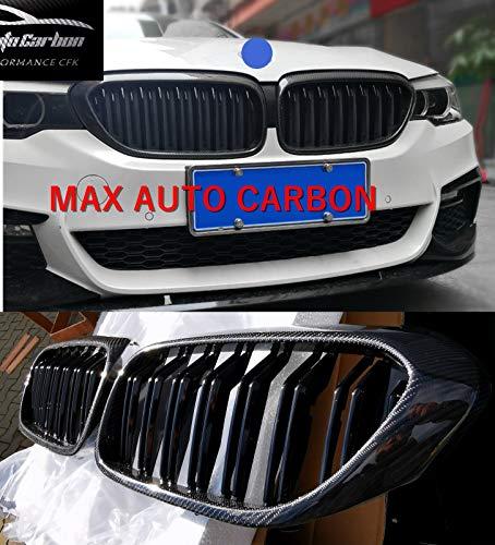 MAX AUTO Carbon Karbon Front Grill Nieren Kühlergrill Ziergitter passend für 5er G30 F90 M550i M550d M5 518d 520i 530i 540i 520d 525d 530d 540d