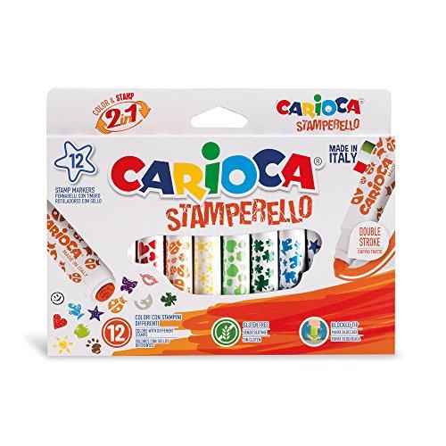 Carioca Rotuladores Stamperello, Multicolor - 12 Uds