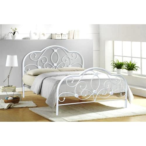 b21cc4baf568 Alexis 4FT6 DOUBLE WHITE METAL BED FRAME