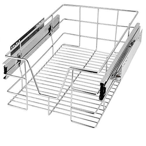 Deuba Cajón telescópico bandeja de metal extraíble 30cm organizador interior almacenaje cocina baño